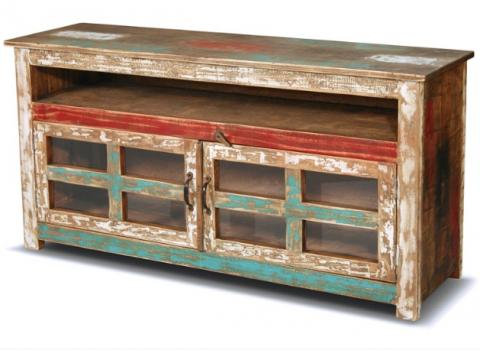 Bombay Hand Painted 55 Quot Tv Stand Rustic Furniture Mall