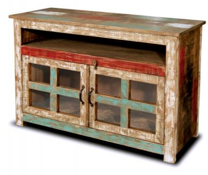 Bombay Hand Painted 45 Quot Tv Stand Rustic Furniture Mall