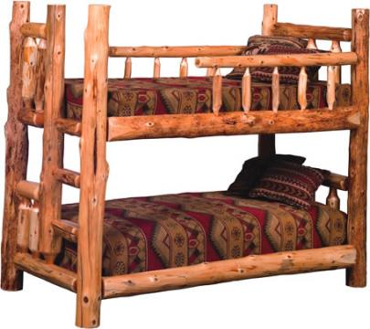 Timberland bunk bed rustic furniture mall by timber creek for Log style beds