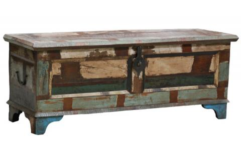Distressed Painted Trunk Rustic Furniture Mall By Timber