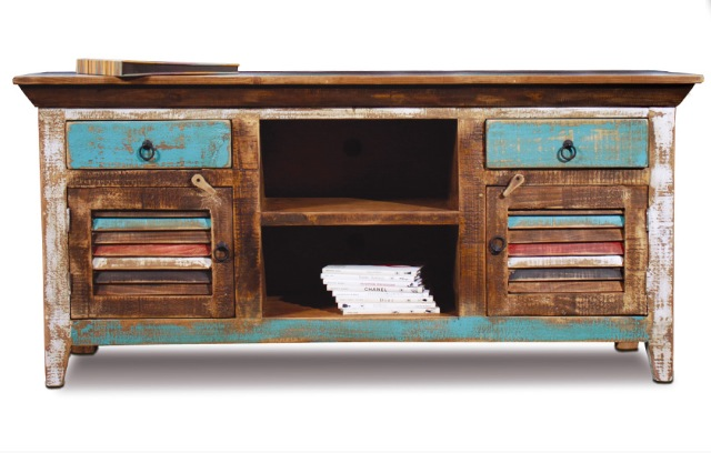 bombay 60 color tv stand with shutters - Colored Tv Stands