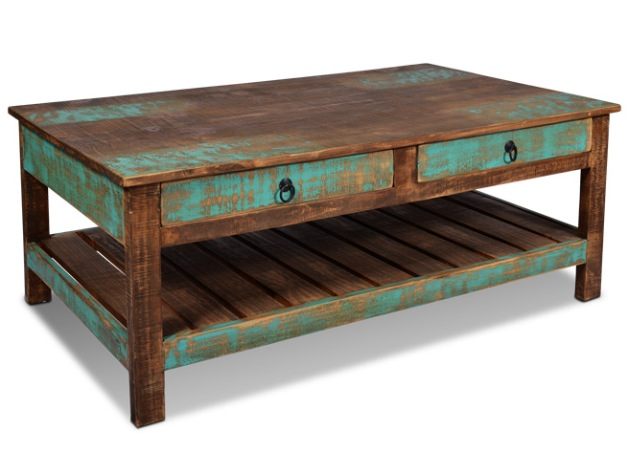 Ventura hand painted coffee table rustic furniture mall by timber creek Painted coffee table