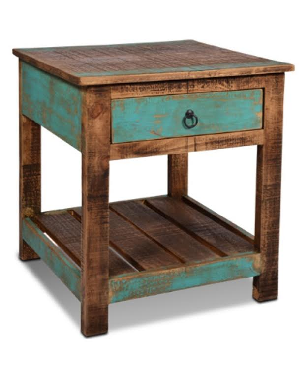 Genial Ventura Hand Painted End Table