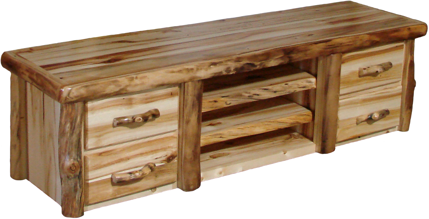 Aspen Flat Panel Tv Console Rustic Furniture Mall By Timber Creek