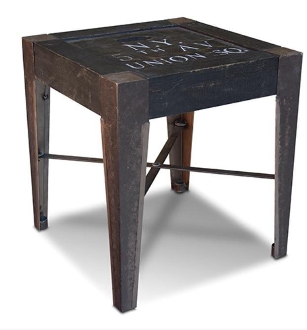 Graffiti End Table Rustic Furniture Mall By Timber Creek
