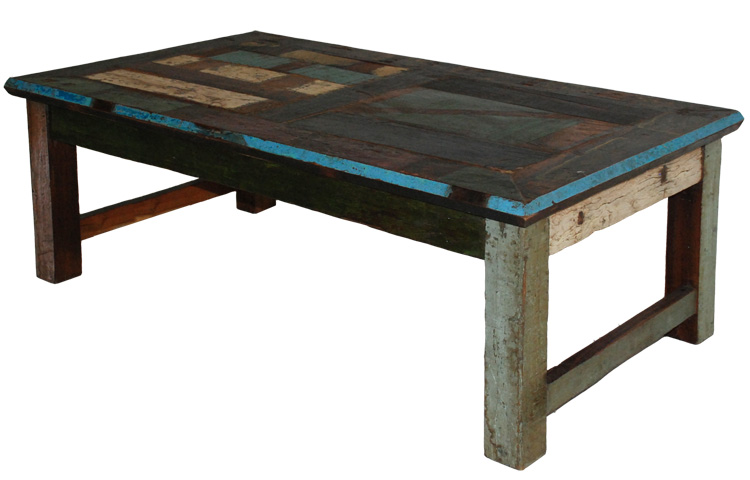 Distressed Painted Coffee Table Rustic Furniture Mall By Timber