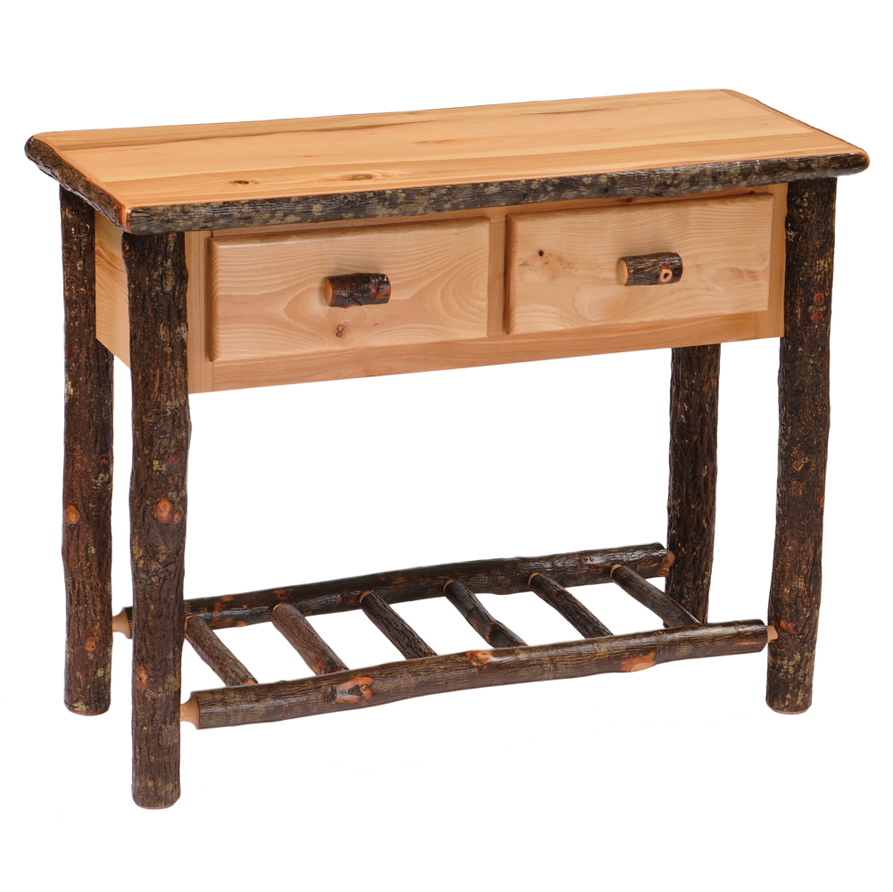 Cottage Hickory 2-drawer Sofa Table | Rustic Furniture Mall by ...