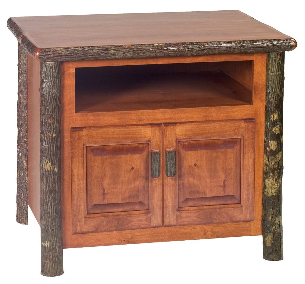Cottage Hickory TV Stand