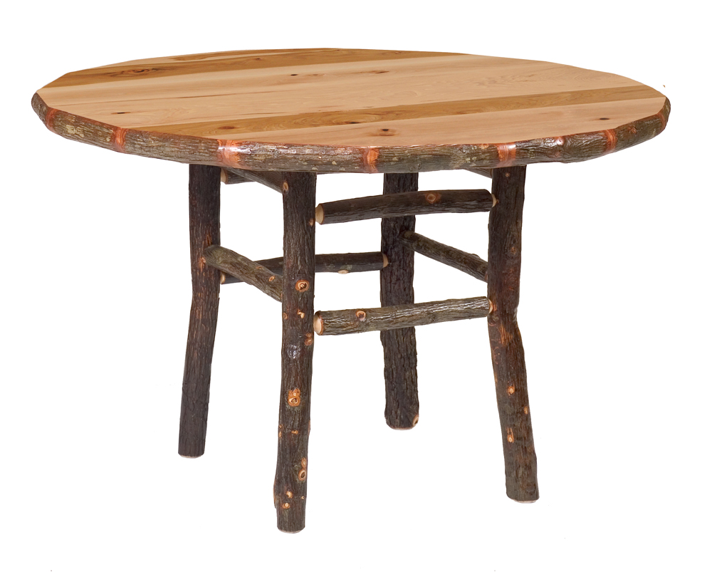 Cottage Hickory Round Table Rustic Furniture Mall By