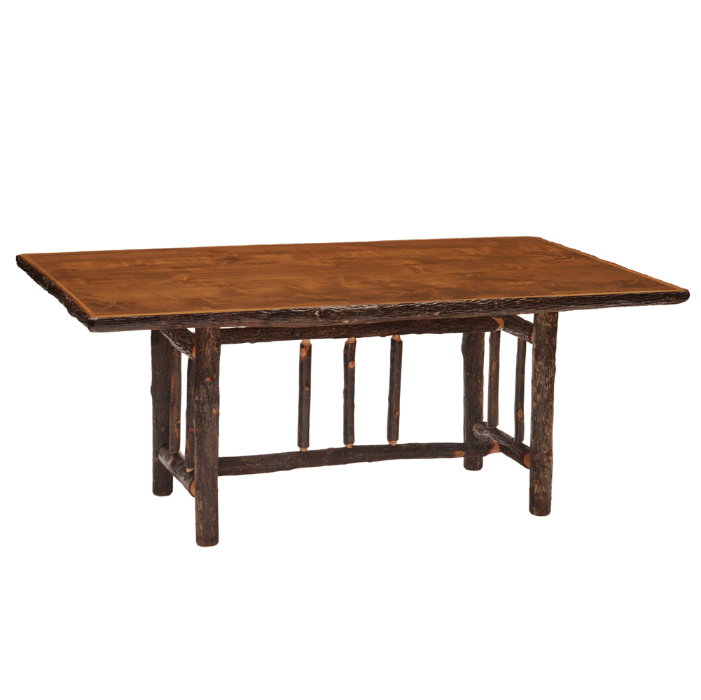 Cottage Hickory Dining Table Rustic Furniture Mall by  : 8512820Hickory20RectLog20Dining20Table2062720Espresso20with20std20fin from www.rusticfurnituremall.com size 1001 x 1000 jpeg 259kB
