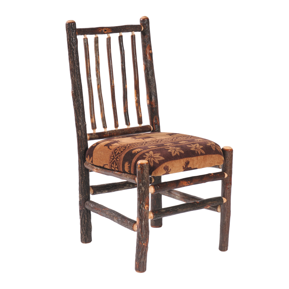 Cottage Hickory Diner With Upholstered Seat Rustic