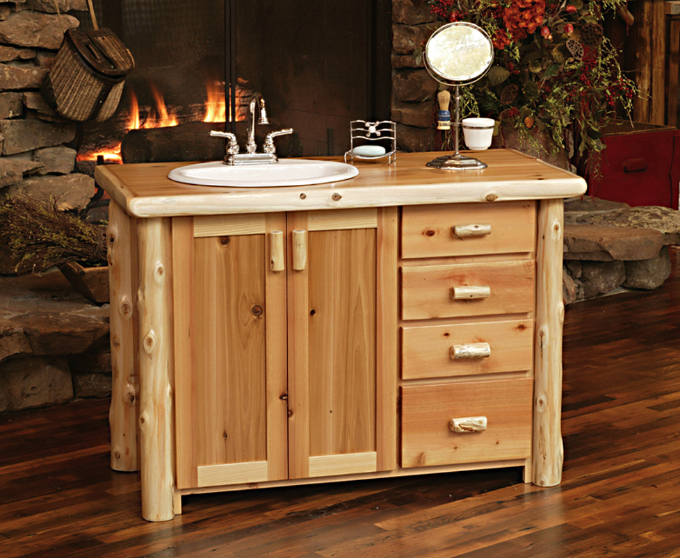Timberland Vanity Rustic Furniture Mall By Timber Creek