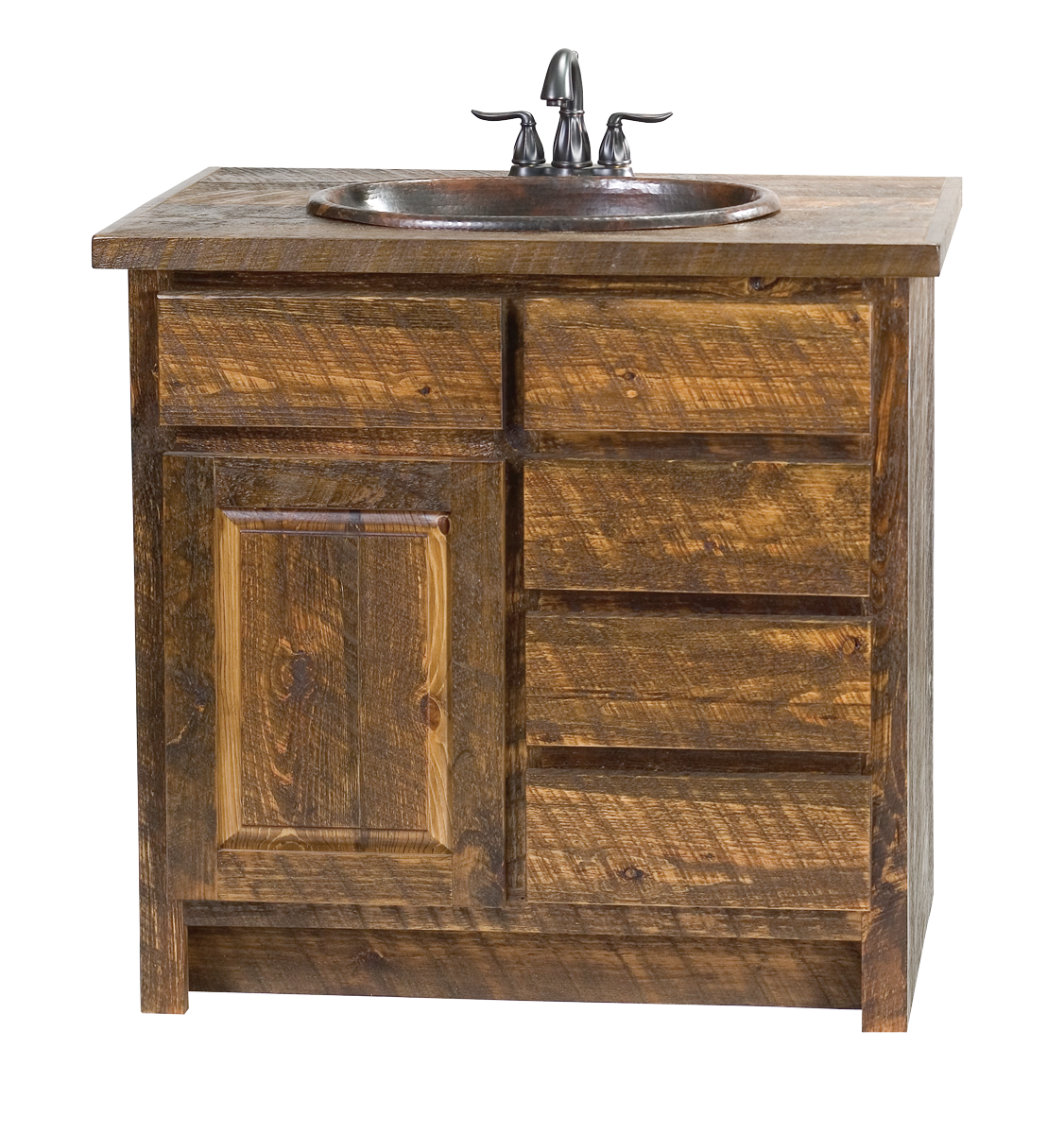 Barn wood bathroom vanity for Bathroom vanity plans