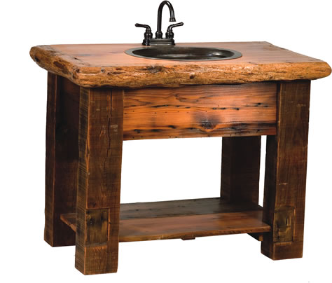 Rocky Mountain Barnwood Vanity Rustic Furniture Mall By