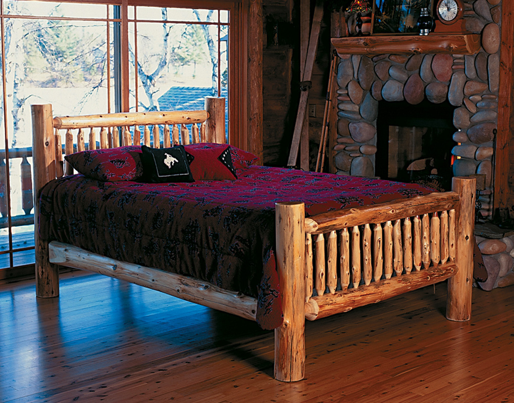 Boundary waters bed rustic furniture mall by timber creek for Log cabin style bunk beds