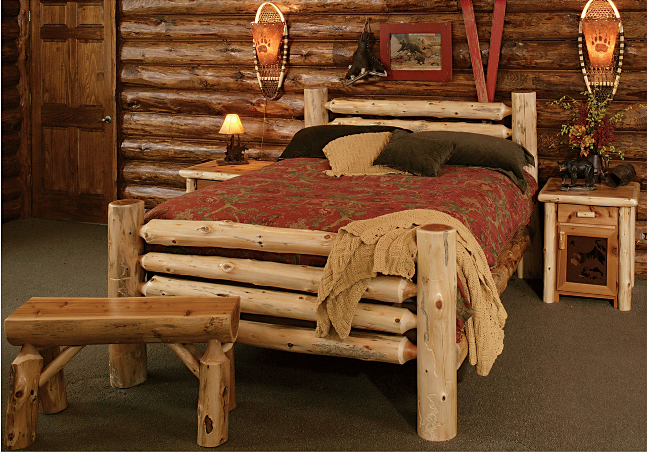 Log Bed Kits are fully dried, hand peeled and sanded cedar, unfinished ...