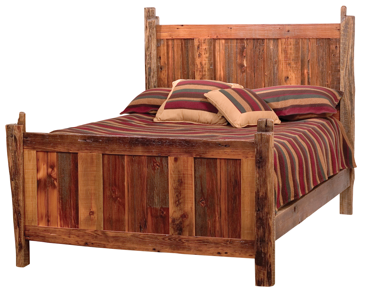 Teton Barnwood Bed on barn home kits
