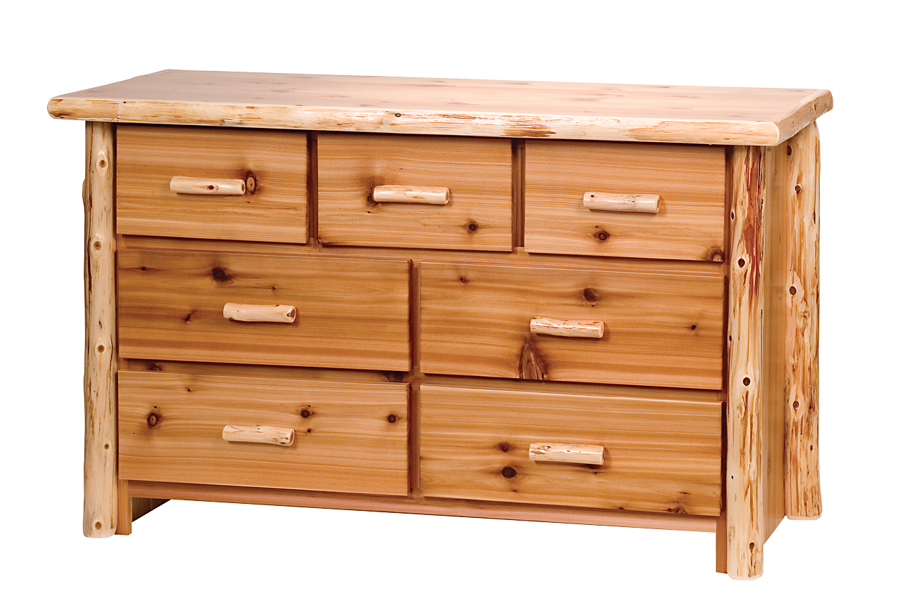 Timberland Cedar Log 7 Drawer Dresser Rustic Furniture  : BRD05 Log Dresser from www.rusticfurnituremall.com size 1280 x 861 png 1249kB