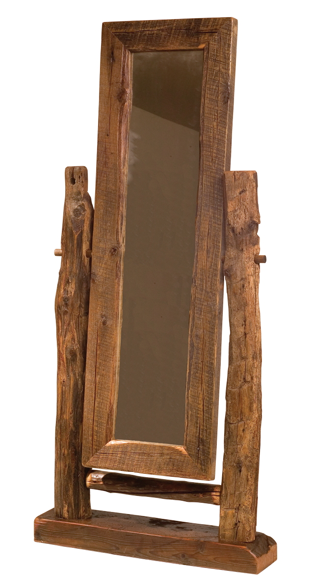 Teton floor mirror rustic furniture mall by timber creek for Rustic mirror