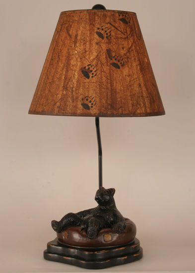 Bear In Innertube Table Lamp Rustic Furniture Mall By