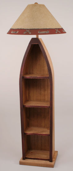 Boat With Shelves Floor Lamp Rustic Furniture Mall By