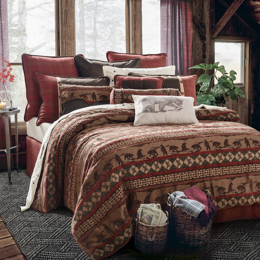 Cascade Lodge Comforter Set Rustic Furniture Mall By