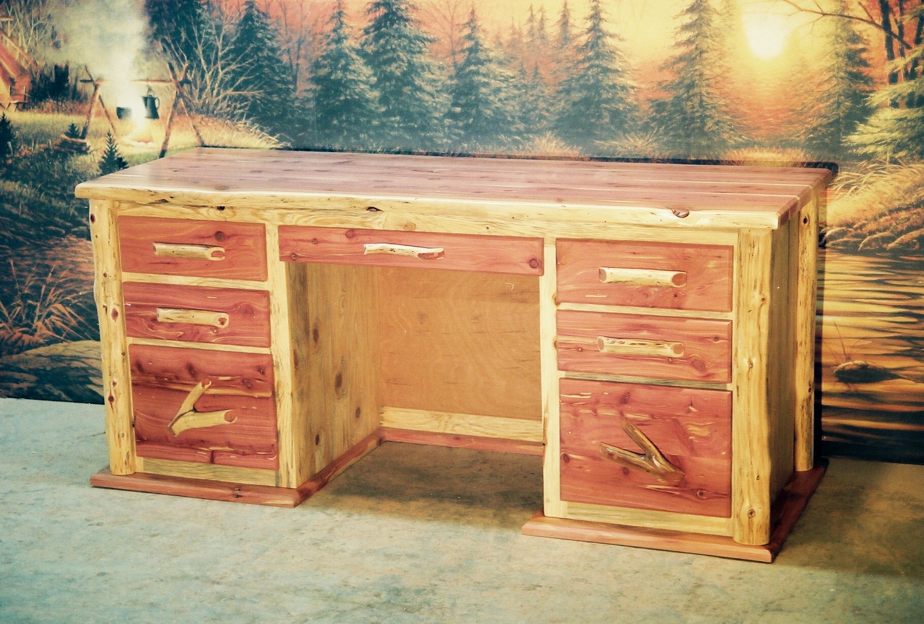 Diamond point red cedar and faux reclaimed collection