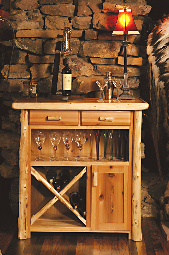 Timberland Wine Console Rustic Furniture Mall By Timber