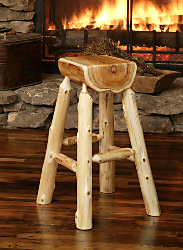 timber barstool mall by logger bar furniture log rooms stool rustic shop stools creek
