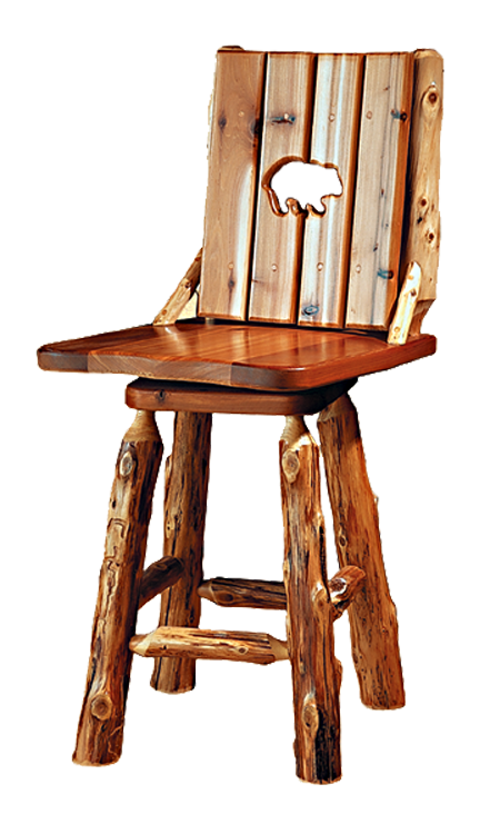 Comfortback Bar Stool Rustic Furniture Mall By Timber Creek
