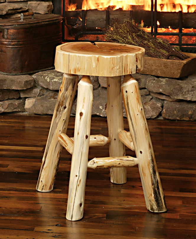Lumberjack Bar Stool Rustic Furniture Mall By Timber Creek
