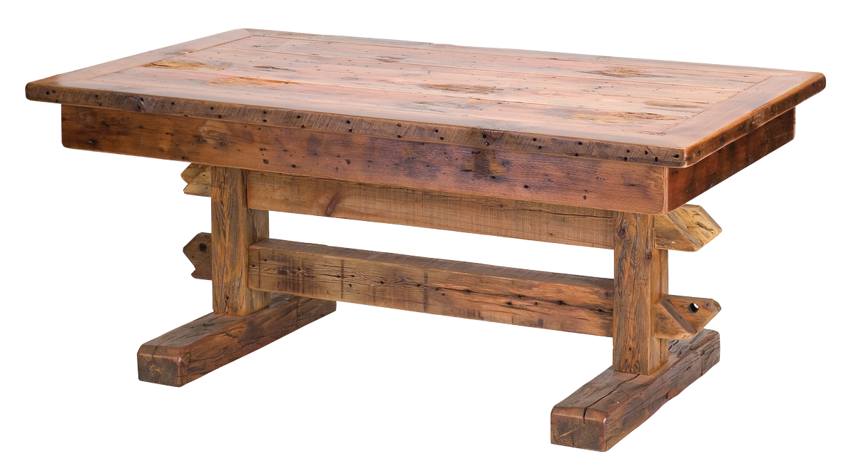 Rocky mountain barn wood dining table rustic furniture for Wooden dining table chairs
