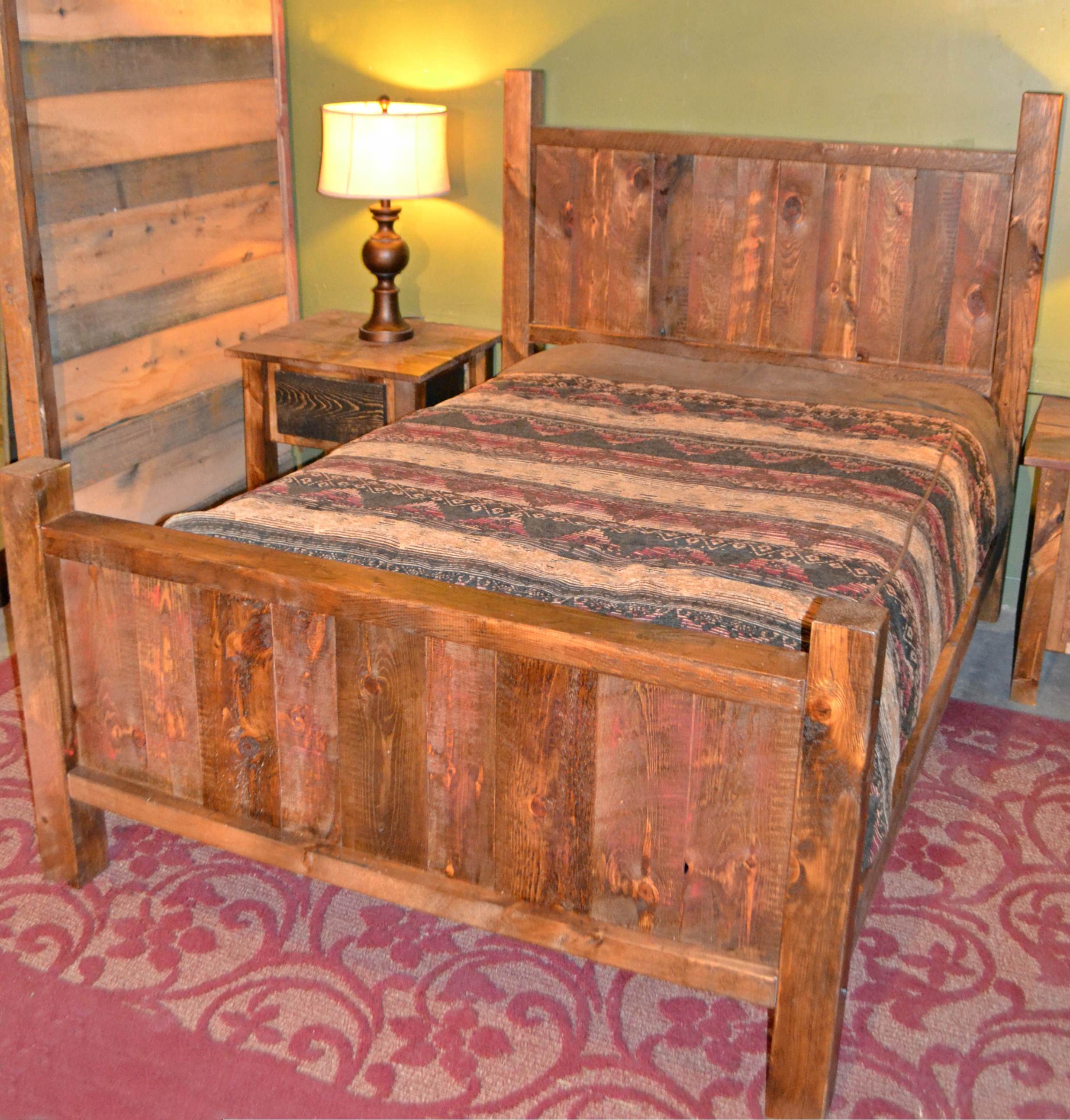 Rough Sawn Pine Bed Kit Rustic Furniture Mall By Timber