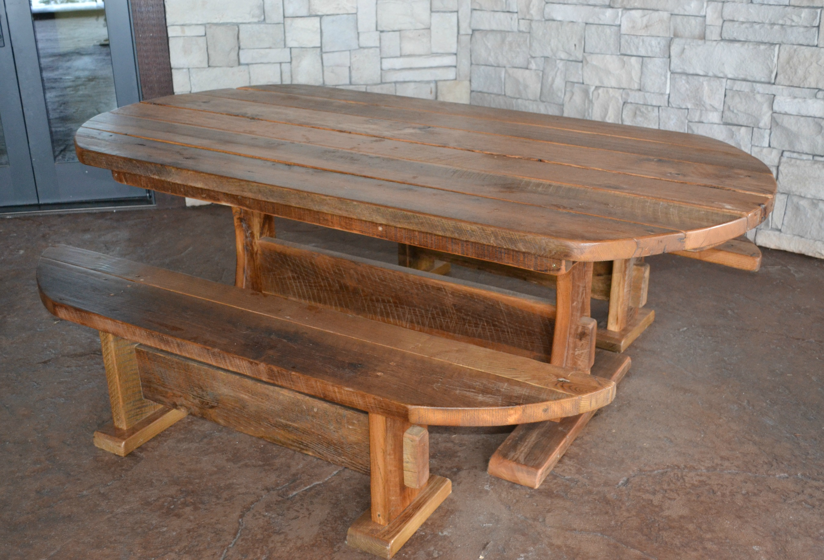 Barnwood dining table durango trail rustic furniture Furniture made from barn wood