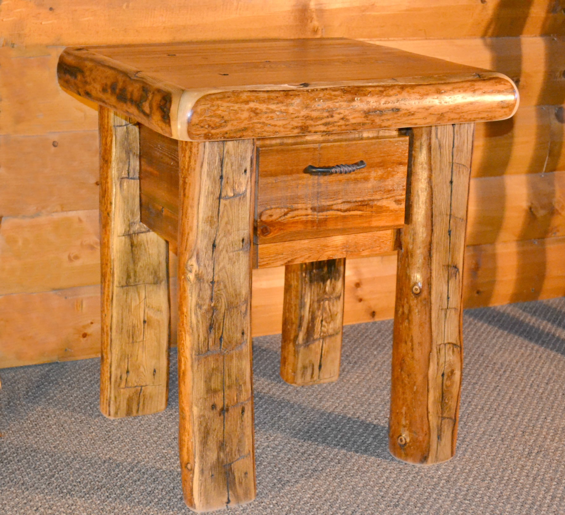 Rocky Mountain Barnwood Nightstand End Table Rustic
