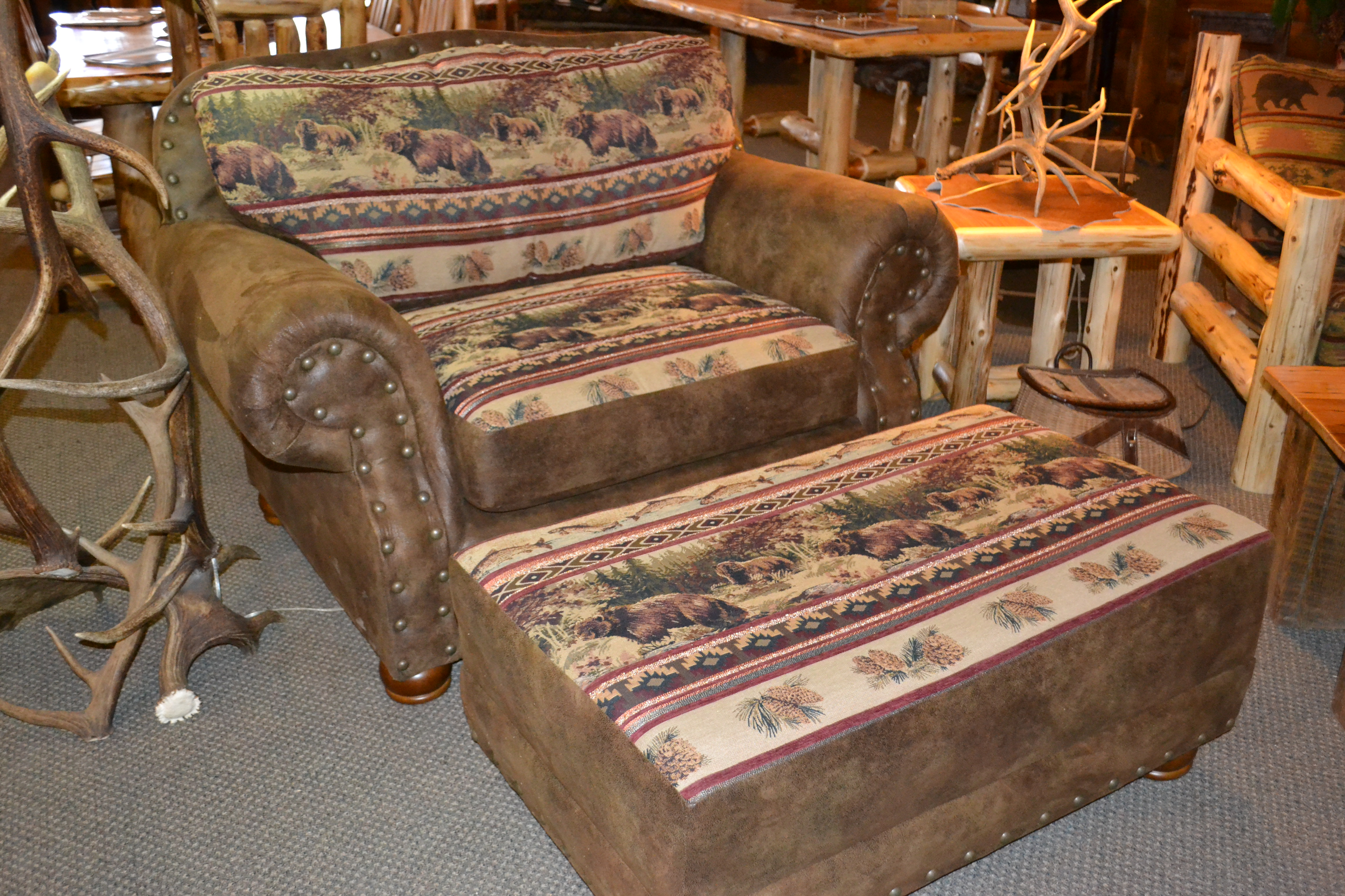 Bear Creek Chair Amp Half Rustic Furniture Mall By