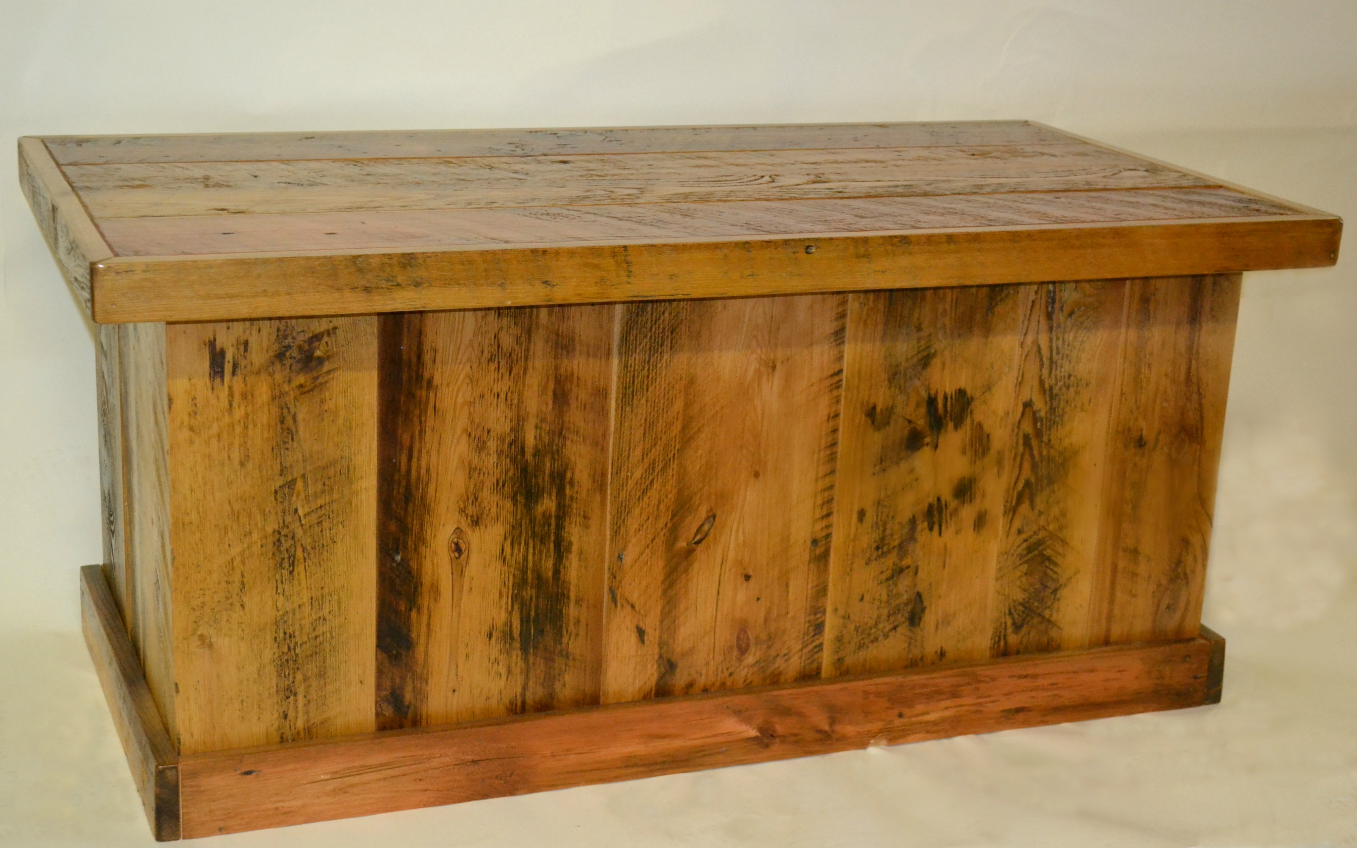 Barnwood TrunkBlanket ChestCoffee Table Rustic Furniture Mall by