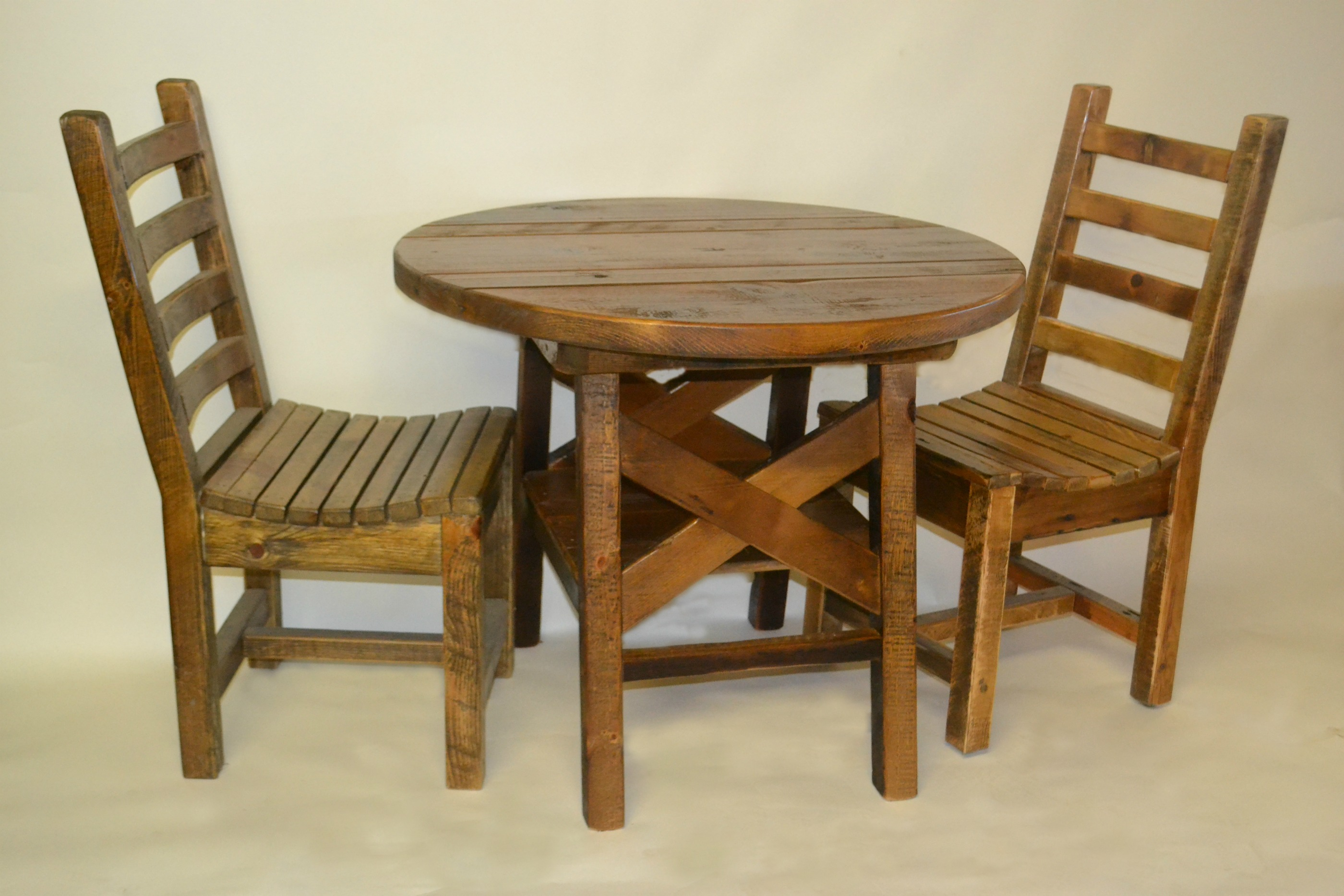 barnwood round dining table rustic furniture mall by