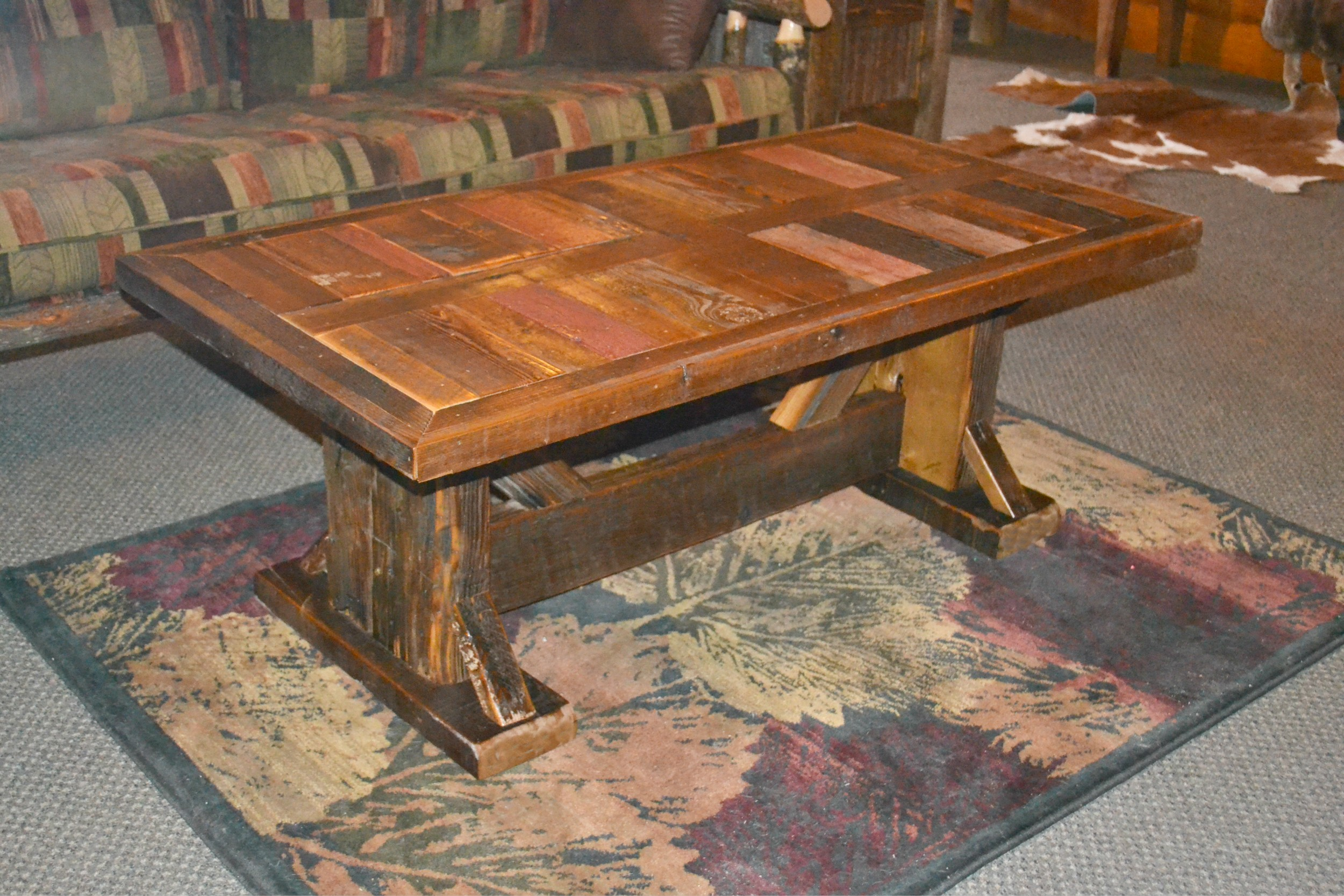 Barnwood dining table durango trail rustic furniture for Furniture barn