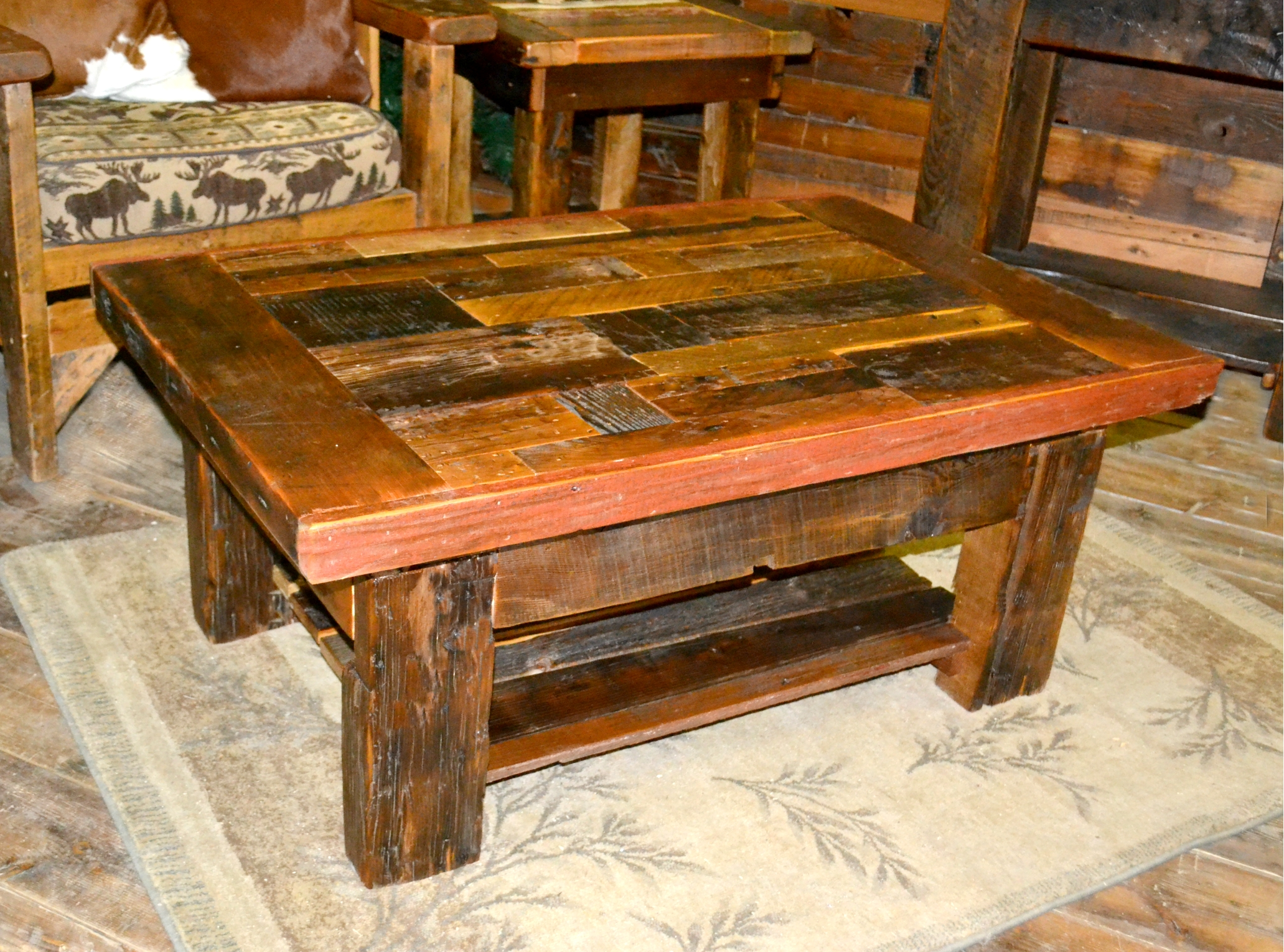 Collage barnwood coffee table rustic furniture mall by timber creek collage barnwood coffee table geotapseo Image collections