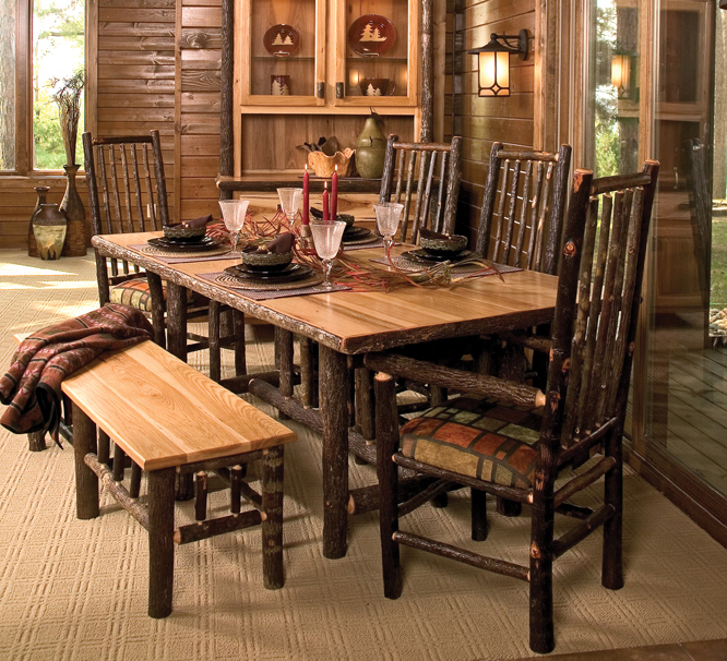 Cottage Hickory Dining Table