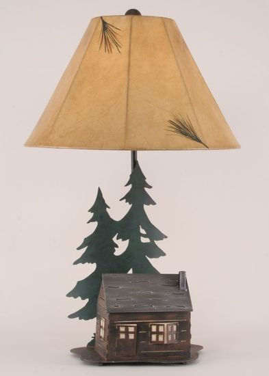 Iron Cabin W Night Light Table Lamp Rustic Furniture