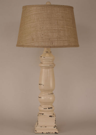Husky Square Pot Table Lamp Rustic Furniture Mall By