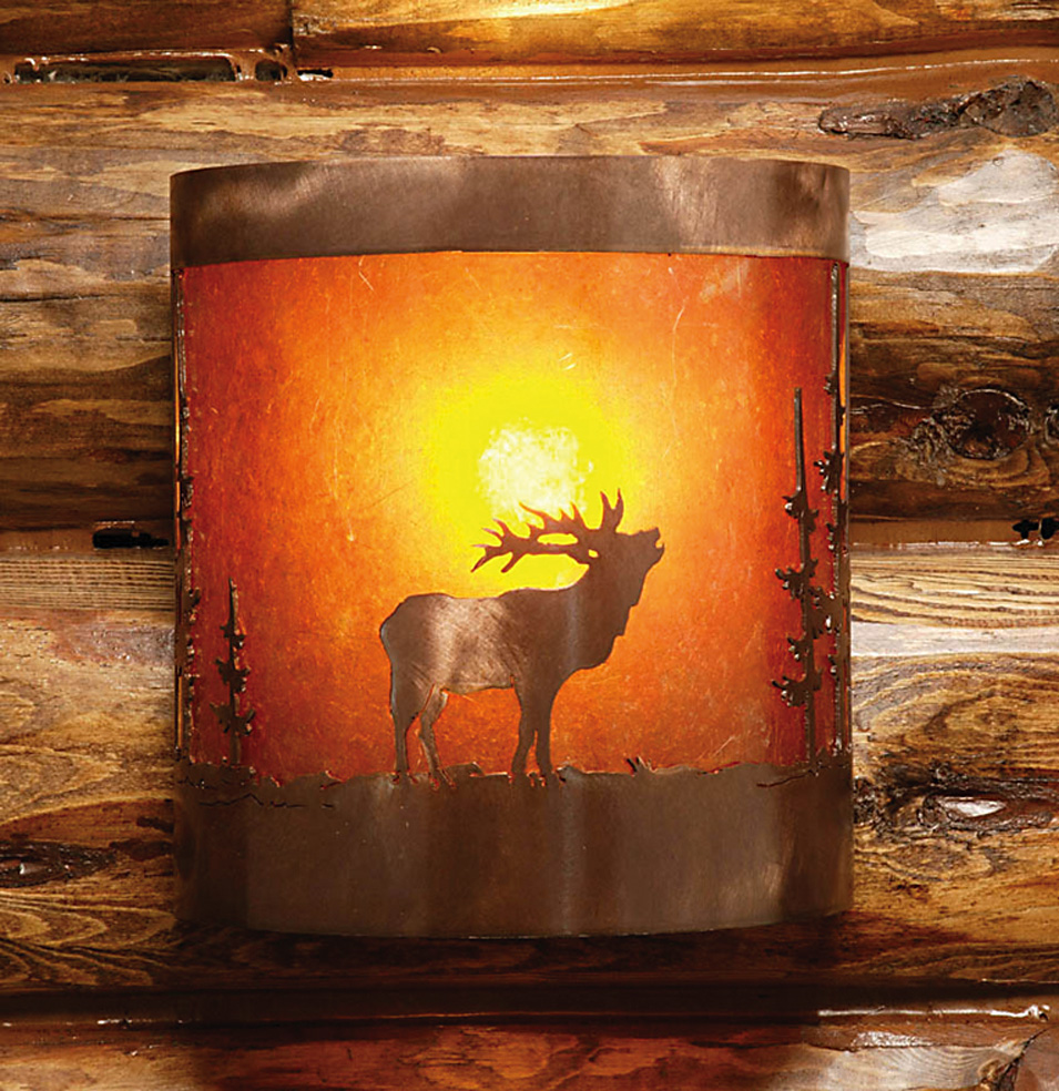 Wilderness Half Round Sconce Rustic Furniture Mall By