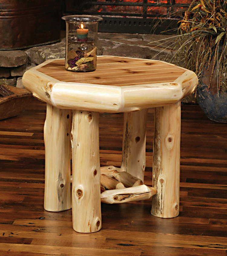 Log Side Table ~ Tables rustic furniture mall by timber creek