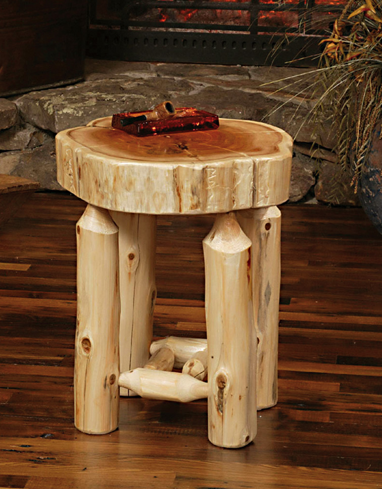 Woodwork Cedar Log End Tables Plans PDF Download Free