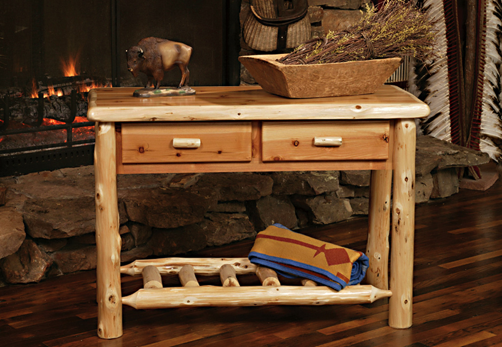 Admirable Timberland 2 Drawer Sofa Table Rustic Furniture Mall By Alphanode Cool Chair Designs And Ideas Alphanodeonline