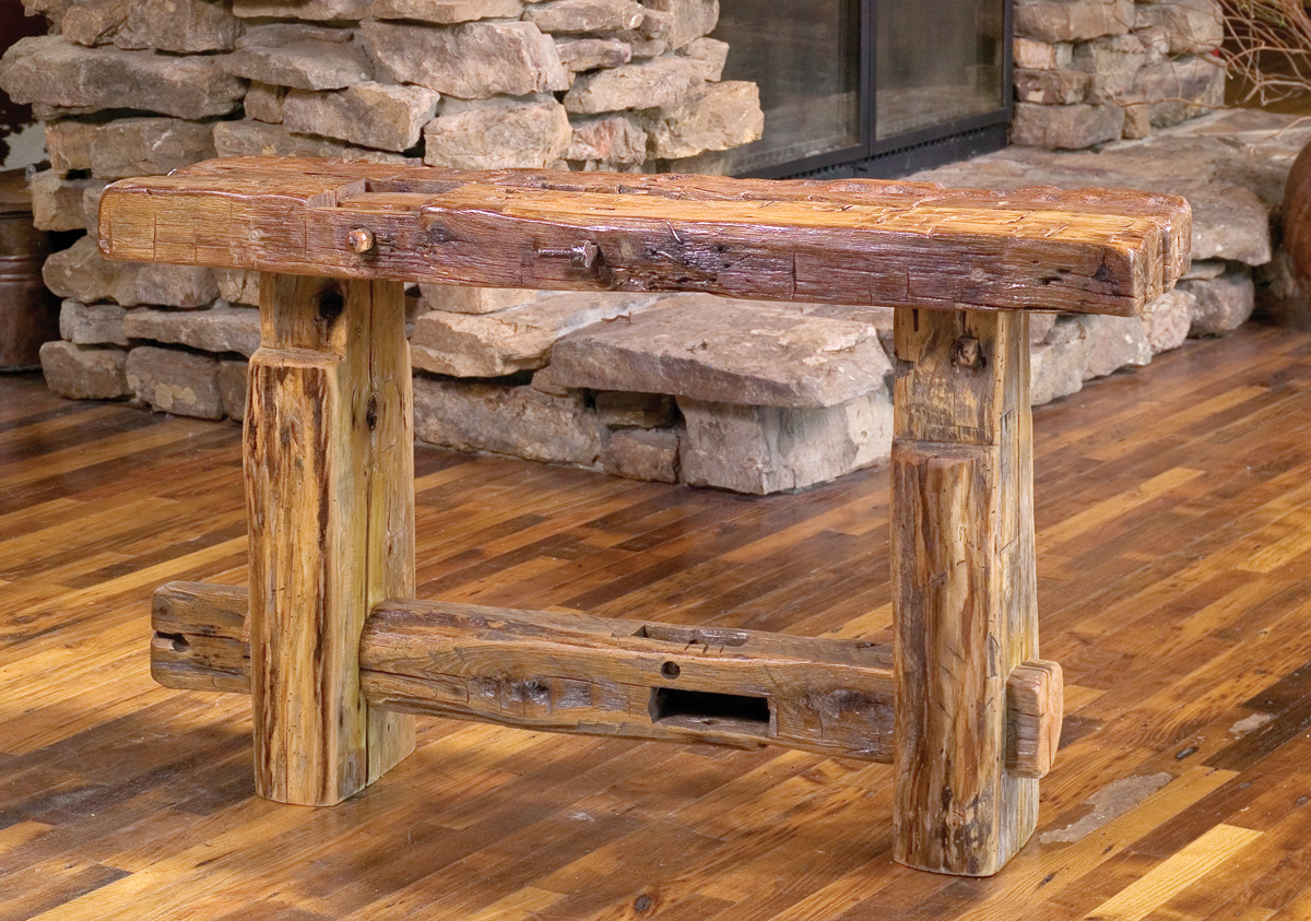 Rustic Wood Couch ~ Reclaimed barn wood furniture rustic mall by