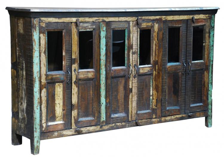 Merveilleux Distressed Painted 6 Door Cabinet. Click ...
