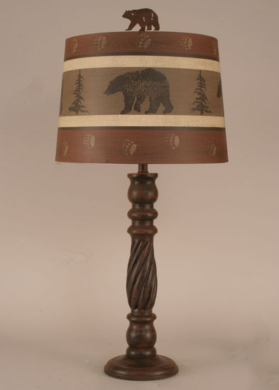 Bear Amp Paws Table Lamp Brown Shade Rustic Furniture